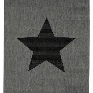 Stjärna Bukleematto 133x190 Cm Harmaa / Musta