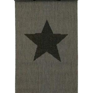 Stjärna Bukleematto 67x250 Cm Harmaa / Musta