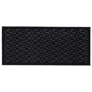 Tica Copenhagen Graphic Ovimatto Musta / Harmaa 67x150 Cm