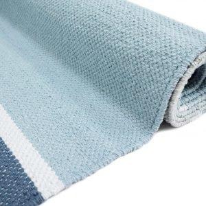Vallila Kalasatama Puuvillamatto Blue 80x250 Cm