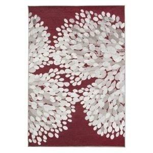 Vallila Sydänpuu matto 110 cm punainen