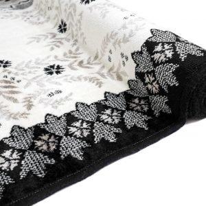 Vallila Tilhi Viskoosimatto Black White 68x220 Cm
