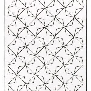 Vallila Touko Matto Valkoinen Musta 80x230 Cm