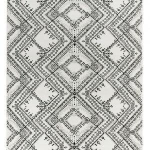Vallila Traditio Shiny Matto White Black 140x200 Cm