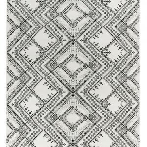 Vallila Traditio Shiny Matto White Black 160x230 Cm