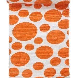 Venedig Räsymatto 70x250 Cm Valkoinen / Oranssi