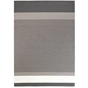 Woodnotes Panorama Paperinarumatto Grafiitti / Vaaleanharmaa 80x200 Cm