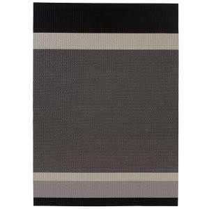 Woodnotes Panorama Paperinarumatto Musta / Vaaleanharmaa 80x200 Cm