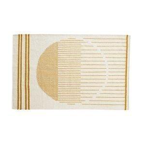 Woud Raining Circle Matto Valkea / Keltainen 170x240 Cm