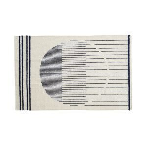 Woud Raining Circle Matto Valkea / Navy 90x140 Cm